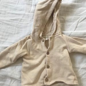 HM button up hoodie